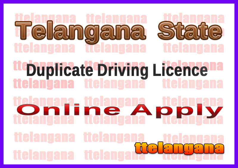 TS RTA Online Issue Driving Duplicate Learner Licence Booking Online
