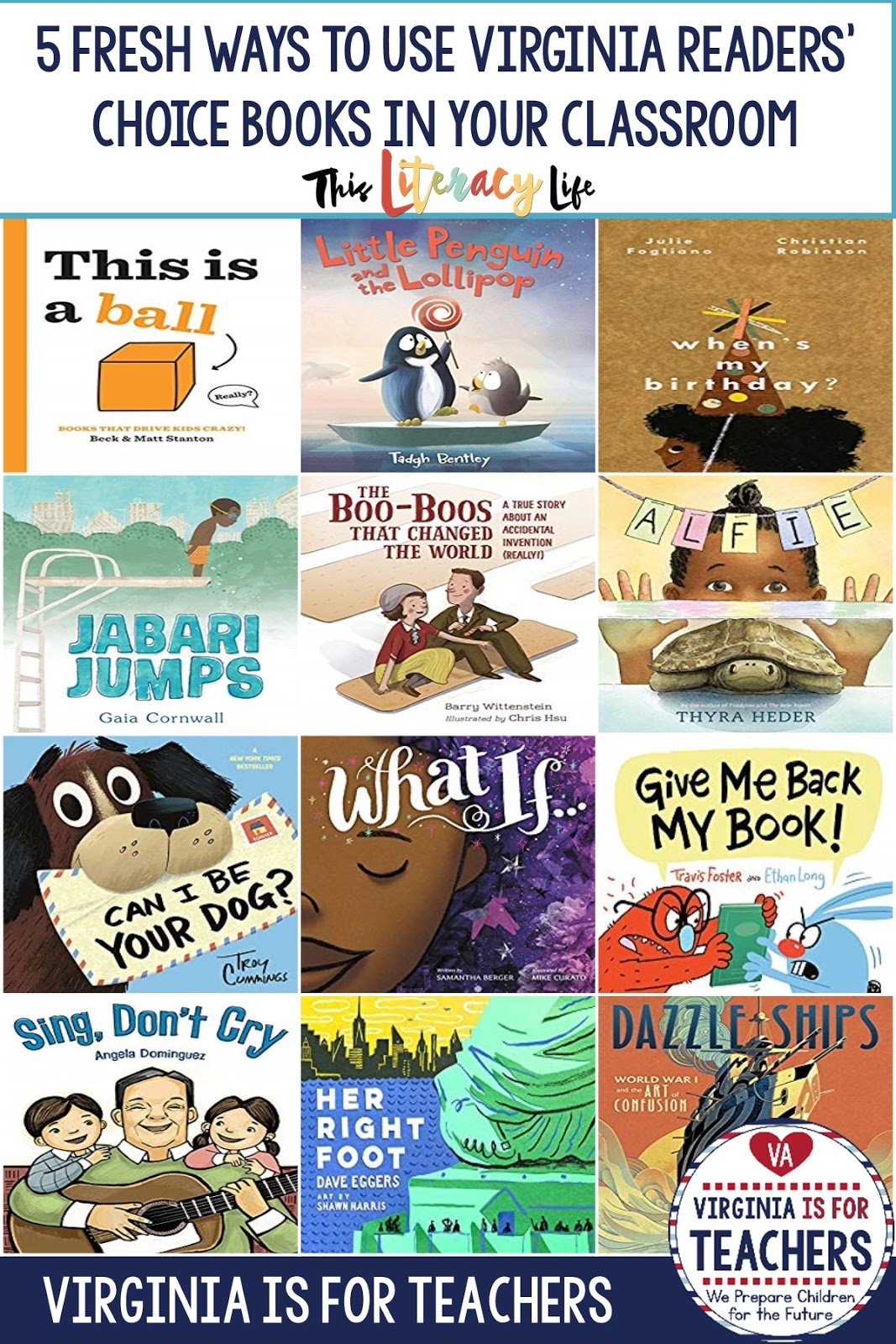 Using picture books in your classroom makes learning so much fun! These Virginia Readers' Choice selections make it fun for everyone with easy ways to incorporate them into your lessons.