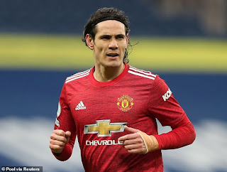 Edinson Cavani set to make £1.75m from Manchester United if his contract expires without renewal