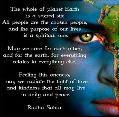 quote, Radha Sahar quote, live together, earth, oneness quote