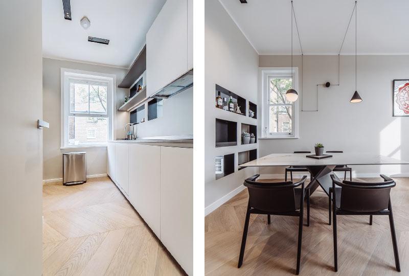 progetto ristrutturazione e interior design appartamento in Collingham Place
