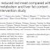 Efeitos potenciais da redução da carne vermelha em comparação com o aumento da ingestão de fibras no metabolismo da glicose e no conteúdo de gordura hepática