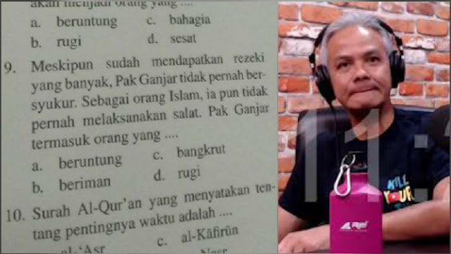 Viral Soal Buku SD 'Ganjar Tidak Pernah Sholat', Ganjar Pranowo Minta Dicek