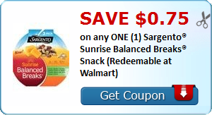 image about Sargento Printable Coupon called Sargento Dawn Healthier Breaks Printable Coupon Personal savings