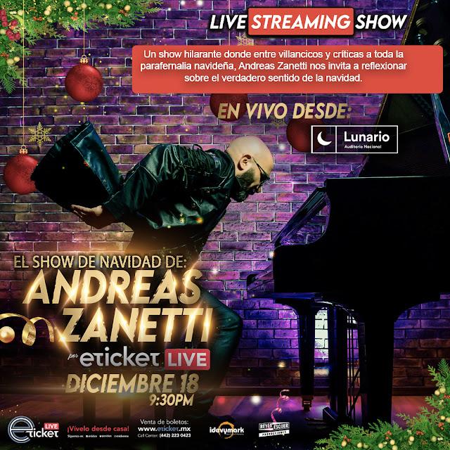 Andreas Zanetti llega al streaming con su aclamado show de navidad desde El Lunario
