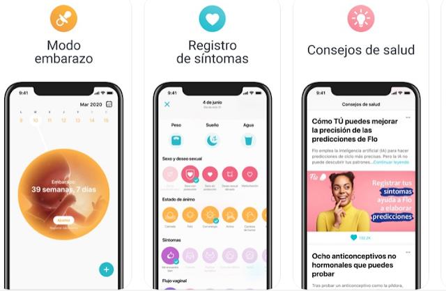 pantallazos flo app iphone