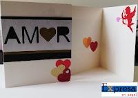 tarjeta de san valentin hecha a mano