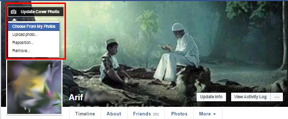 how to update cover photo on facebook page