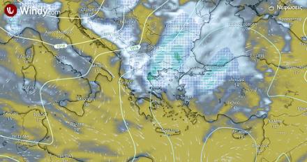 Τοπικά ισχυρές βροχές και καταιγίδες αύριο στα ανατολικά και βόρεια - Πιθανές χαλαζοπτώσεις σε Ανατολική Μακεδονία και Θράκη