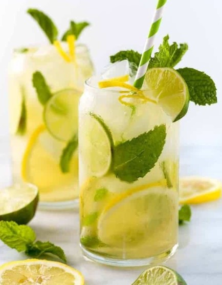 ICE GREEN TEA WITH LEMON RECIPES