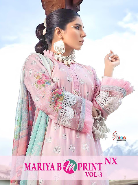 Shree fab Mariya b m print 3 hit Design pakistani Suits