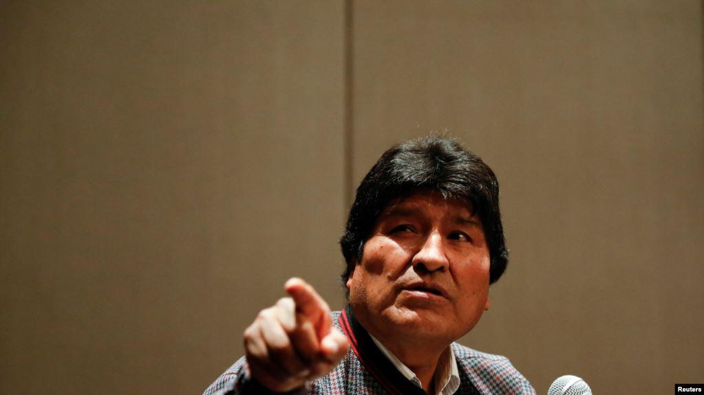 El expresidente boliviano Evo Morales acusó en una conferencia de prensa en México el 20 de noviembre de 2019 al gobierno interino de usar una fuerza excesiva contra manifestantes pacíficos / REUTERS