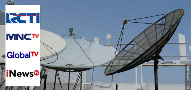 Daftar Frekuensi Channel Terbaru RCTI, MNCTV, GlobalTV dan iNewsTV