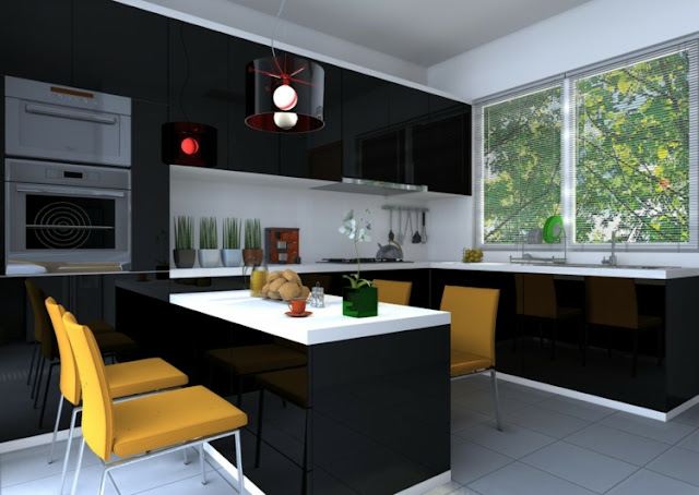 the glasses designs lamps kitchens colors yellow walls