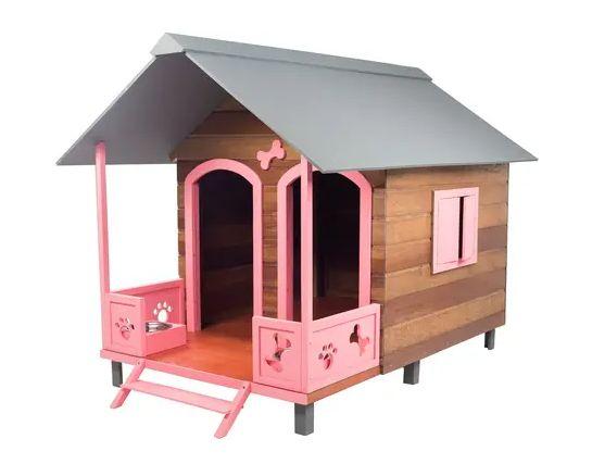 Comprar Casinha ou Casa de Cachorro de Madeira Dupla com Varanda