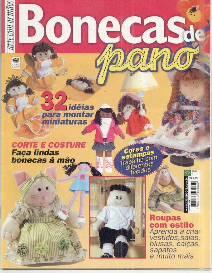 Arte Com As Mãos Bonecas De Pano-N°01