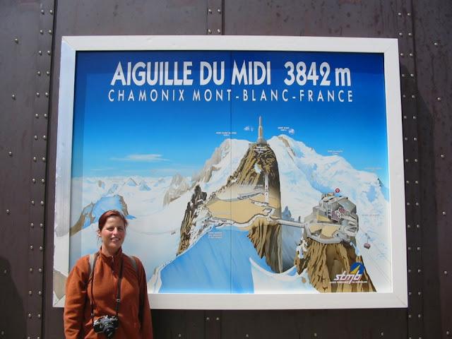 Aiguille du Midi - Barbara mit analoger Spiegelreflex 2003