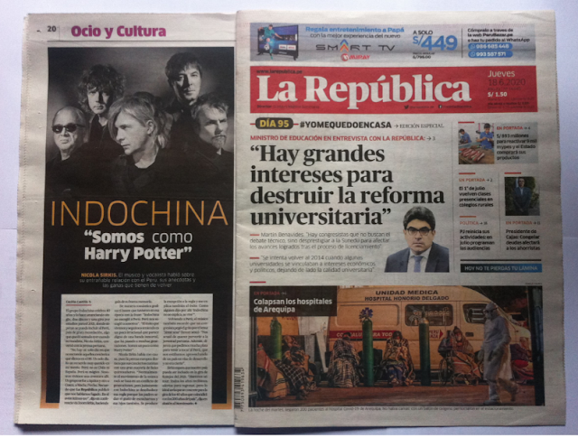 "Diario La República: ""Indochina, somos como Harry Potter"""