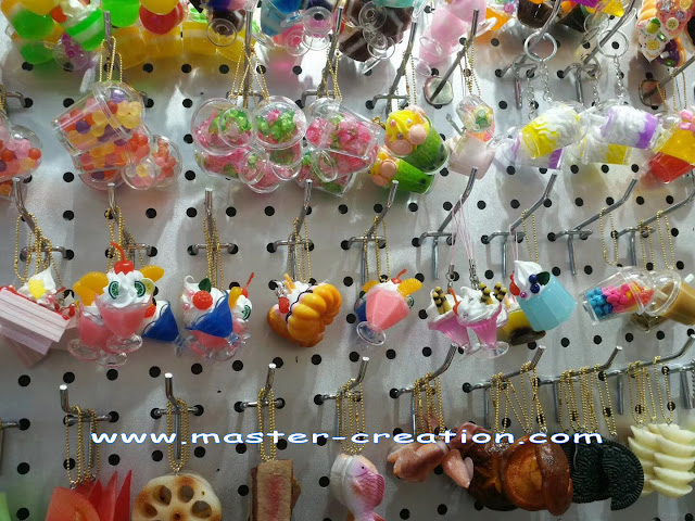 mini jelly pendant keychains