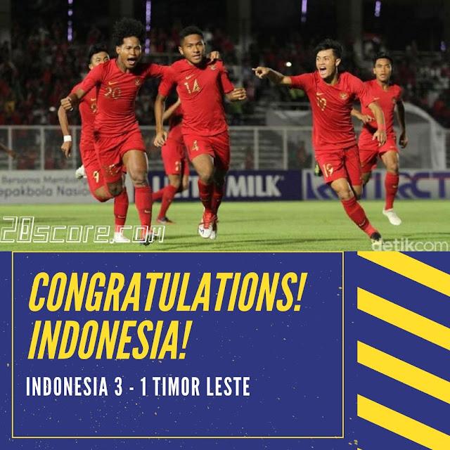 Timnas Indonesia U-19 Berhasil Kalahkan Timor Leste U-19