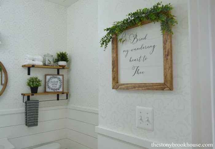Powder Room Makeover decor