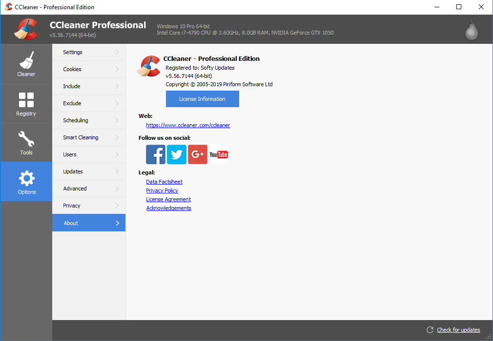 CCleaner 5.56.7144