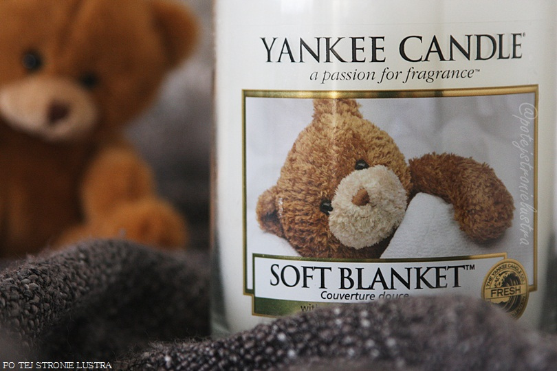 etykieta świecy yankee candle soft blanket