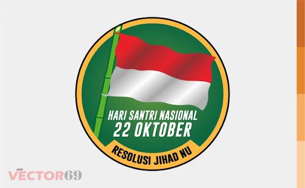 Resolusi Jihad NU, Hari Santri Nasional Logo - Download Vector File AI (Adobe Illustrator)