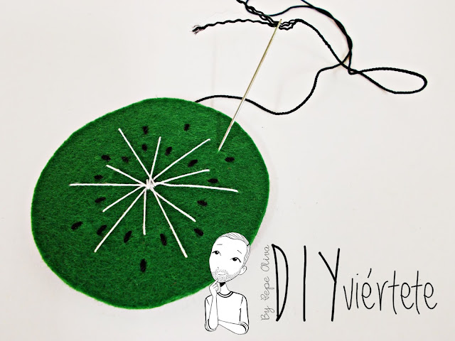 BLOGERSANDO-frutas-DIY-fieltro-kiwi-posavasos-manualidades-3