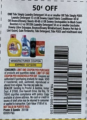 tide downy coupon
