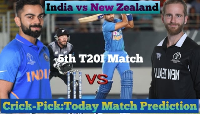 IND Vs NZ Dream 11 Prediction 5th T20I Match Who Will Win Today Match