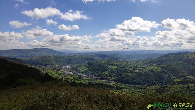 Vista hacia Oviedo desde el Pico Lloe