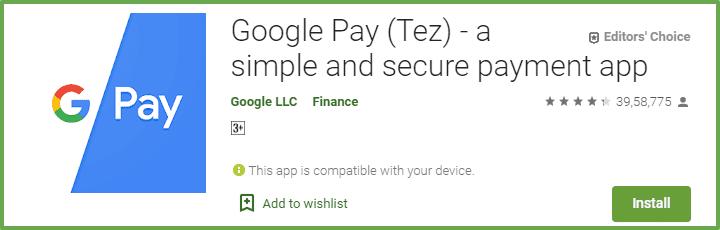 paisa kamane ka app google pay