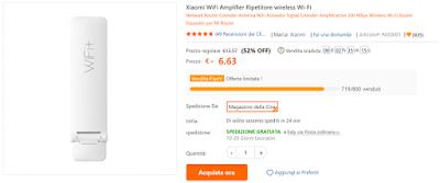 Xiaomi Mi Wi-Fi Amplifier 2 offerta TomTop