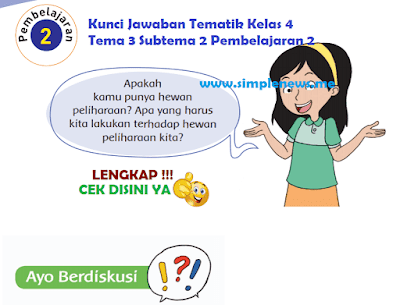 Kunci Jawaban Tematik SD MI Kelas 4 Tema 3 Subtema 2 Pembelajaran 2 www.simplenews.me