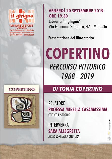 """A """"Il Ghigno"""" di Molfetta presentazione del libro """"Copertino – Percorso Pittorico 1968/2019"""""""