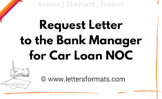 request letter to bank manager for car loan noc