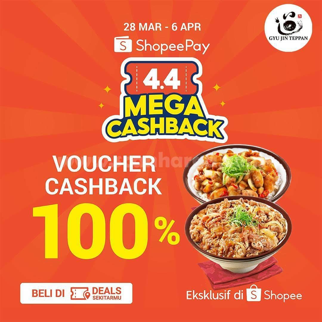 Promo GYU JIN TEPPAN SHOPEEPAY Voucher Deals 4.4 MEGA CASHBACK 100%