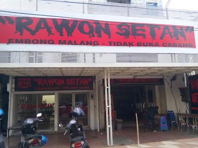 Warung Rawon Setan, Embong Malang, Surabaya
