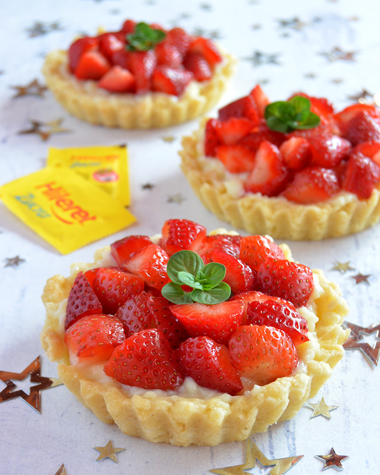 Tarteletas de frutilla sin azúcar