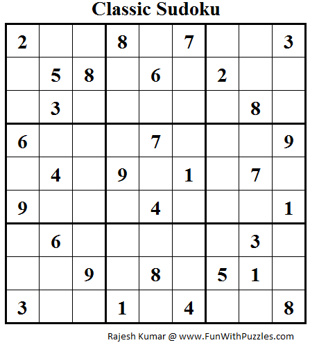 Classic Sudoku (Fun With Sudoku #49)