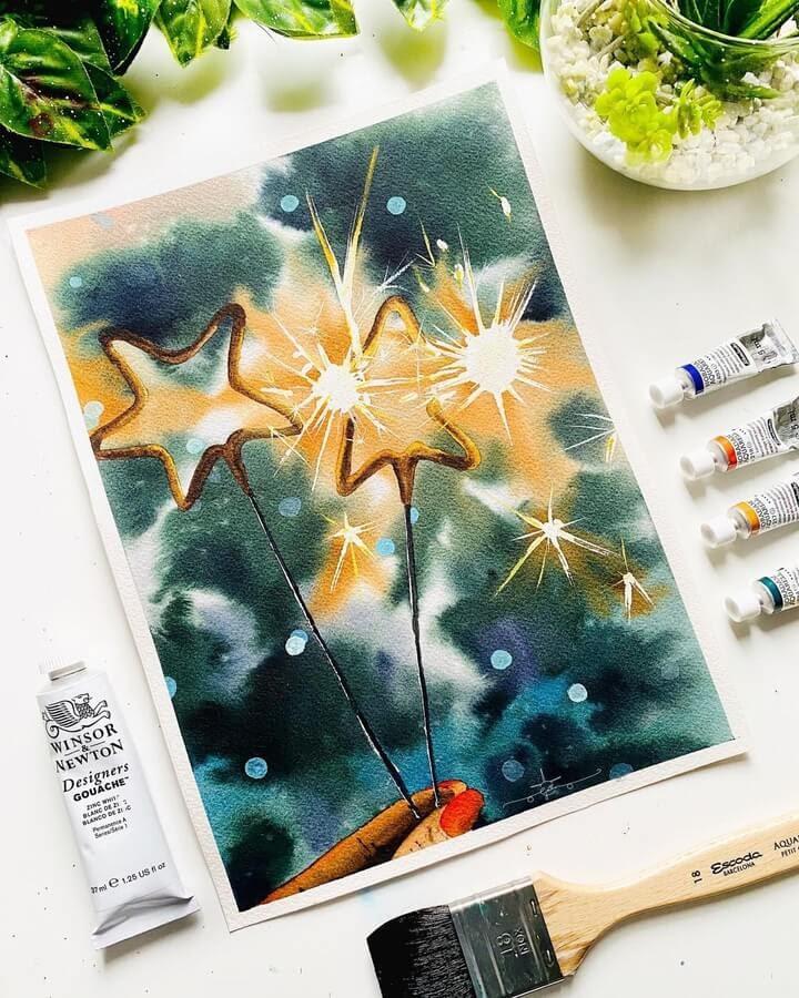 09-Star-sparklers-Geethu-www-designstack-co