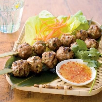 Vietnamese Grilled Pork Meatballs Recipe