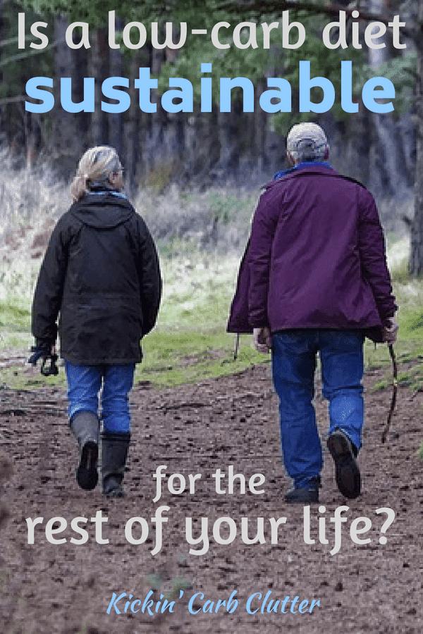 Pinterest Image: Older Couple Walking their Dog