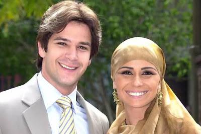 Lucas (Murilo Benício) e Jade (Giovanna Antonelli) em O Clone