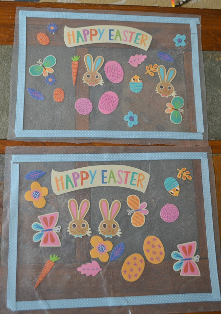 Easter Placemat Craft for Kids, Easter craft for kids, Easter Placemat, DIY Easter Placemat craft for kids, Easter Placemat Craft for Kids DIY, Contact paper placemat, crafts with contact paper
