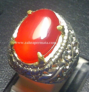 Cincin Batu Permata Red Carnelian - ZP 384