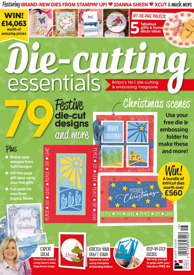 I WAS PUBLISHED IN: Die-cutting Essentials  Issue 16.