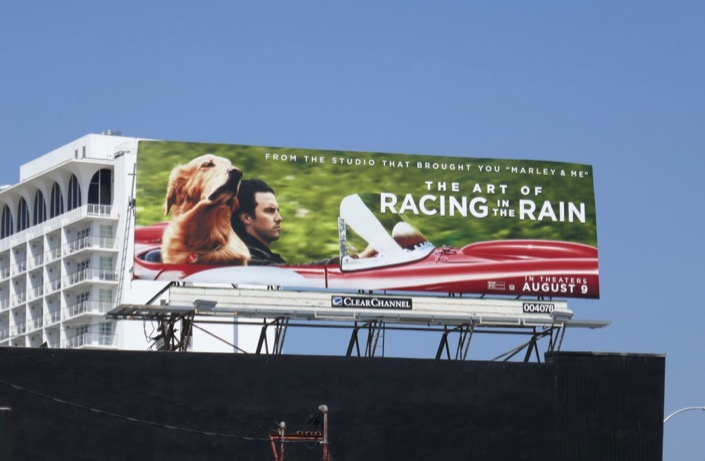 Art of Racing in the Rain billboard
