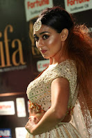 Apoorva Spicy Pics in Cream Deep Neck Choli Ghagra WOW at IIFA Utsavam Awards 2017 59.JPG